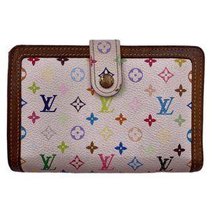 Authentic Louis Vuitton Multicolor White Wallet